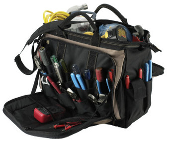 CLC Custom Leather Craft Soft Side Tool Bags, 57 Compartments, 14 in X 7 in (1 EA/EA)