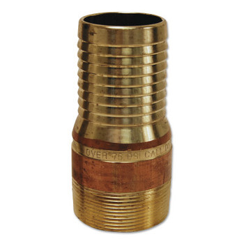 Dixon Valve King Combination Nipples, 3 in x 3 in (NPT) Male, Brass (10 EA/EA)