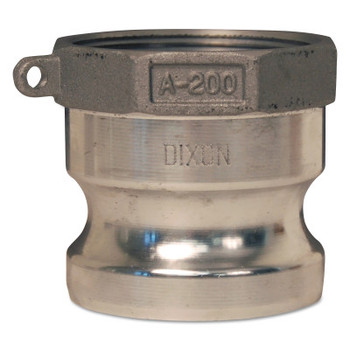 Dixon Valve Andrews/Boss-Lock Type A Cam and Groove Adapters, 4 in (NPT) Female, Aluminum (1 EA/EA)