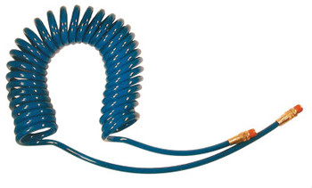 Coilhose Pneumatics Flexcoil Polyurethane Air Hoses, 3/8 in OD, 1/4 in ID, 10 ft, Reusable Fitting (1 EA/EA)