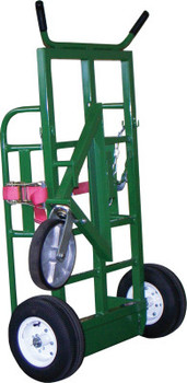 Saf-T-Cart Industrial Series Carts, Holds 2 Cylinders, 12 in Pneumatic Wheels (1 EA/EA)