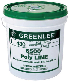 Greenlee Poly Lines, 210 lb Cap., 13 in (1 PA/EA)