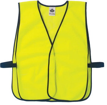 Ergodyne GloWear Non-Certified Vests,  8010HL, One Size, Lime (1 EA/EA)