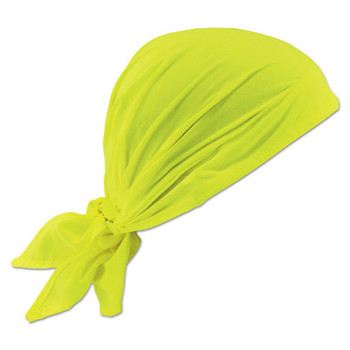 Ergodyne Chill-Its 6710CT Evaporative Cooling Triangle Hats w/ Cooling Towel, Hi-Vis Lime (6 CA/EA)