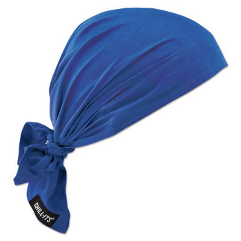 Ergodyne Chill-Its 6710CT Evaporative Cooling Triangle Hats w/ Cooling Towel, Solid Blue (6 CA/EA)