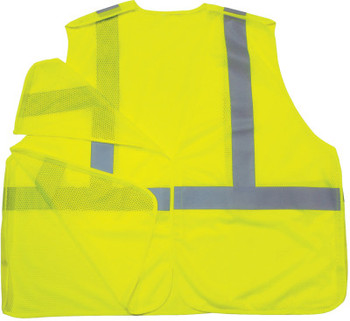 Ergodyne GloWear 8215BA  Class 2 Breakaway Vests, 4XL/5XL, Lime (6 EA/EA)