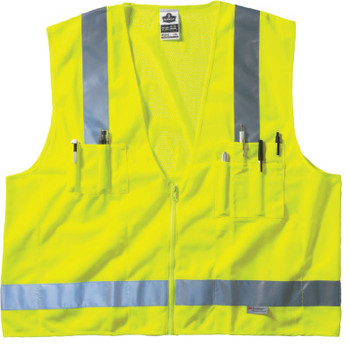 Ergodyne GloWear 8250Z Class 2 Surveyor Vests, L/XL, Lime (1 EA/EA)