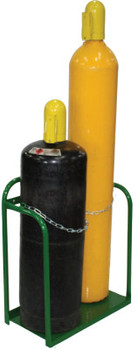 Saf-T-Cart Cylinder Racks, Holds 2 Cylinders, 9 1/2 in-12 1/2 in dia. (1 EA/EA)