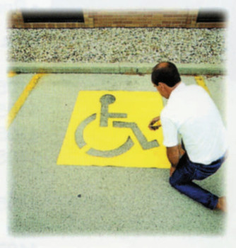 "C.H. Hanson 43"" HIGH HANDICAPPED SYMBOL PARKING LOT (1 EA/EA)"