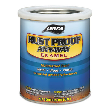 Aervoe Industries Any-Way RustProof Enamels, 1 qt Can, CAT Yellow (Old), High-Gloss (4 CA/EA)