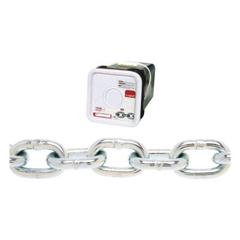 Apex Tool Group System 3 Proof Coil Chains, Size 1/4 in, 1,300 lb Limit, Galvanized (100 FT/EA)