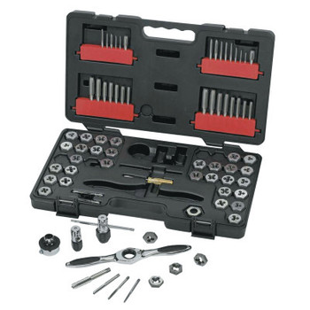 Apex Tool Group 75 Piece Combination Ratcheting Tap and Die Drive Tool Set, Inch/Metric, Hex (1 ST/EA)
