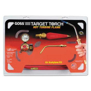 "Goss Feather Flame Air-Acetylene Torch Outfits, 1/4"", Acetylene(B), Soldering/Brazing (1 KIT/BOX)"