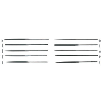 Apex Tool Group Round Needle Files, 0 Cut, 6 1/4 in (12 BOX/EA)