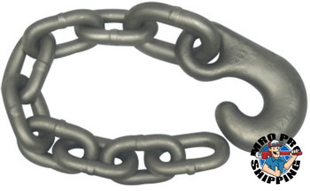ACCO Chain Winch Line Tail Chain Assemblies, Size 5/8 in, 14,000 lb Limit, Bright (1 EA/EA)