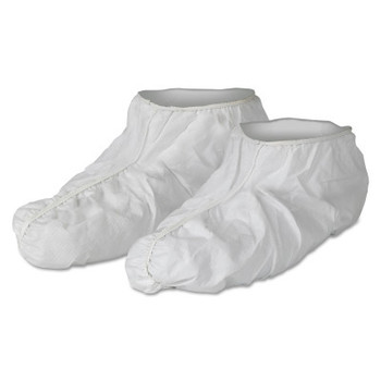 Kimberly-Clark Professional KleenGuard A40 Liquid and Particle Protection Shoe Covers, Universal, White (400 EA)