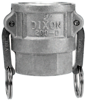 Dixon Valve Andrews Type D Cam and Groove Couplers, 1 in (NPT), Female (10 EA/PK)
