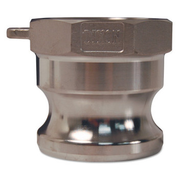 Dixon Valve Global Type A Adapters, 3 in (NPT), 316 Stainless Steel (18 EA/EA)