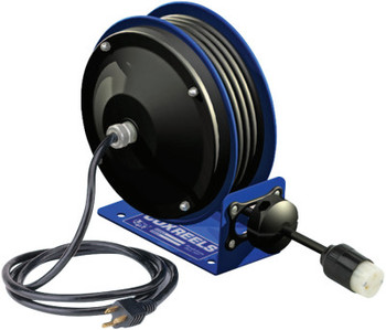 Coxreels PC10 Series Power Cord Reels, 12/3 AWG, 20 A, 30 ft, Single Receptacle (1 EA/CTN)