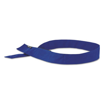 Ergodyne Chill-Its 6705 Evaporative Cooling Hook and Loop Bandanas, Solid Blue (24 EA/BOX)