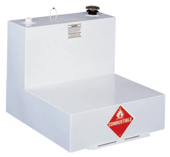 Apex Tool Group Liquid Transfer Tanks, L-Shaped, 51 gal to 54 gal, Steel, White (1 EA/EA)