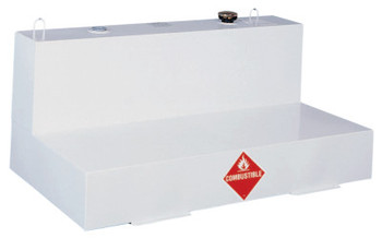 Apex Tool Group Liquid Transfer Tanks, Low-Profile L-Shaped, 76 gal to 82 gal, Steel, White (1 EA/EA)