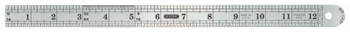 General Tools Industrial Precision Stainless Steel Rules, 12 in, Stainless Steel (1 EA/EA)