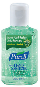 Gojo Purell Instant Hand Sanitizers with Aloe, 2 oz (24 EA/EA)