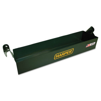 Harper Trucks Tool Boxes, Bolt On, Steel, 17 1/2 in L x 5 in W x 3 in D, Green (1 EA/EA)