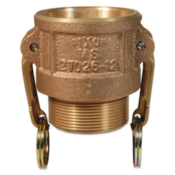 Dixon Valve Andrews Type B Cam and Groove Couplers, 2 in (NPT) Male, Brass (10 EA/EA)