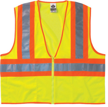 Ergodyne GloWear 8229Z Economy Class 2 Two-Tone Vests, 2XL/3XL, Lime (1 EA/EA)
