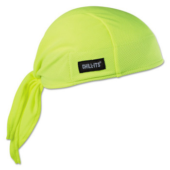 Ergodyne Chill-Its 6615 High-Performance Dew Rags, 6 in X 20 in, Hi-Vis Lime (6 EA/EA)