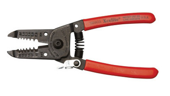 Apex Tool Group Needle Nose Wire Strippers & Cutters, 6 in, 10-22 AWG, Spring Open/Lock; Red (1 EA/EA)
