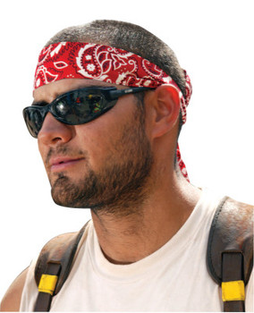 Ergodyne Chill-Its 6700 Evaporative Cooling Bandanas, 8 in X 13 in, Red Western (1 EA/EA)