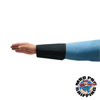 Ansell Cane Mesh Sleeves, 8 in Long, Velcro Closure, Black (1 PR/EA)
