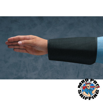 Ansell Cane Mesh Sleeves, 9 in Long, Velcro Closure, Black (1 PR/EA)