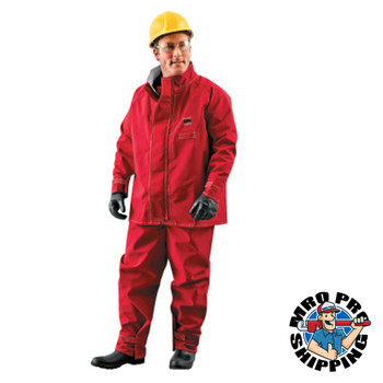 Ansell Alphatec Polyester Trilaminate Jackets, 2X-Large, Red (1 EA/EA)