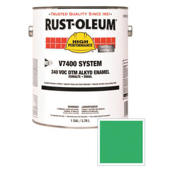 Rust-Oleum Industrial High Performance V7400 System DTM Alkyd Enamel, 1 Gal, Safety Green, High-Gloss (2 CN/EA)