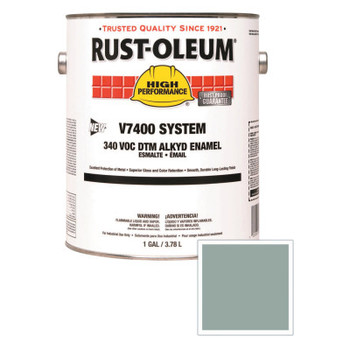 Rust-Oleum Industrial High Performance V7400 System DTM Alkyd Enamel, 1 Gal, Silver Gray, High-Gloss (2 CN/EA)