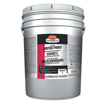 Krylon Industrial Alkyd Shopcoat Primer, 5 Gallon Pail, Red (5 PA/EA)
