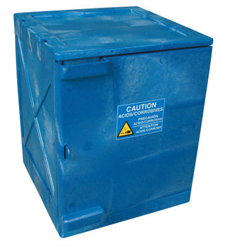 Eagle Mfg Modular Quik-Assembly Poly Cabinet, HDPE, 4 Gallon, Blue (1 EA/EA)