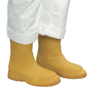 Honeywell Disposable Latex Bootie, Large, Natural Rubber Latex, Yellow (50 CA/EA)