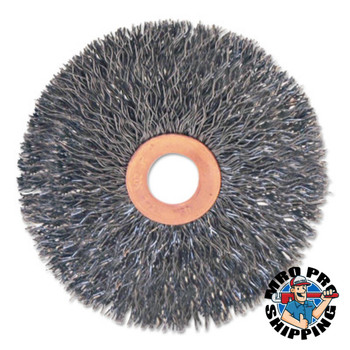 "Anchor Products Stainless/Aluminum Small Crimped Wheel Brushes, 3 x 5/8, 0.014, 1/2 - 3/8"" (1 EA/EA)"