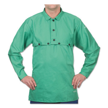 Best Welds Cotton Sateen Cape Sleeves, Hook/Loop, Medium, Green (1 EA/EA)