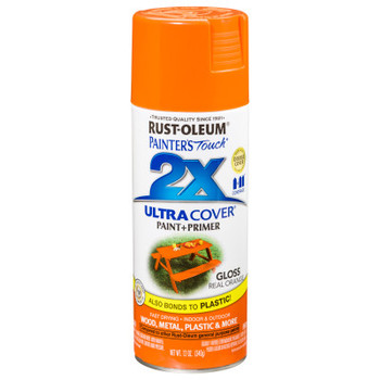 Rust-Oleum Industrial Painter's Touch 2X Ultra Cover Ultra Cover Gloss Spray Paint, 12oz, Real Orange (6 CA/EA)