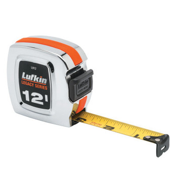 Apex Tool Group Chrome Legacy Series Measuring Tapes, 3/4 in x 12 ft, A2 Blade (1 EA/EA)