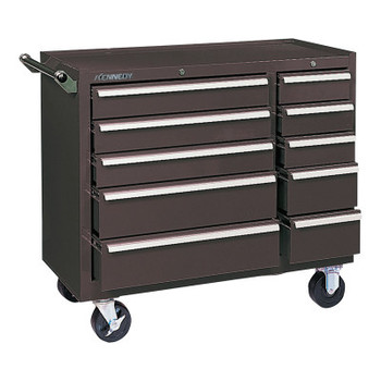 Kennedy Industrial Roller Cabinets, 10 Drawer, 39 3/8 in High, Brown (1 EA/EA)