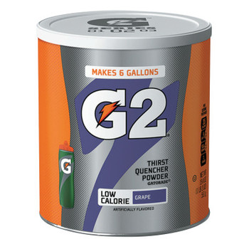 Gatorade G2 Powder, Grape, 19.4 oz, Canister (3 CA/EA)