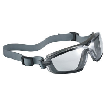 Bolle Cobra TPR Sealed Safety Goggles, Clear Poly, Neoprene Strap, Smoke/Gray Frame (10 BX/EA)