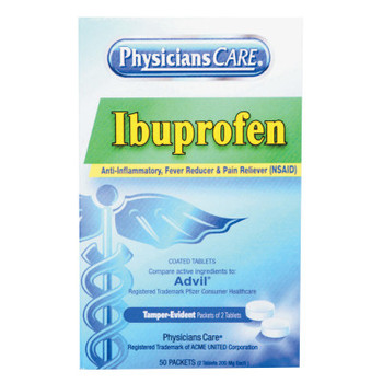 First Aid Only PhysiciansCare Ibuprofen Tablets (1 BX/EA)